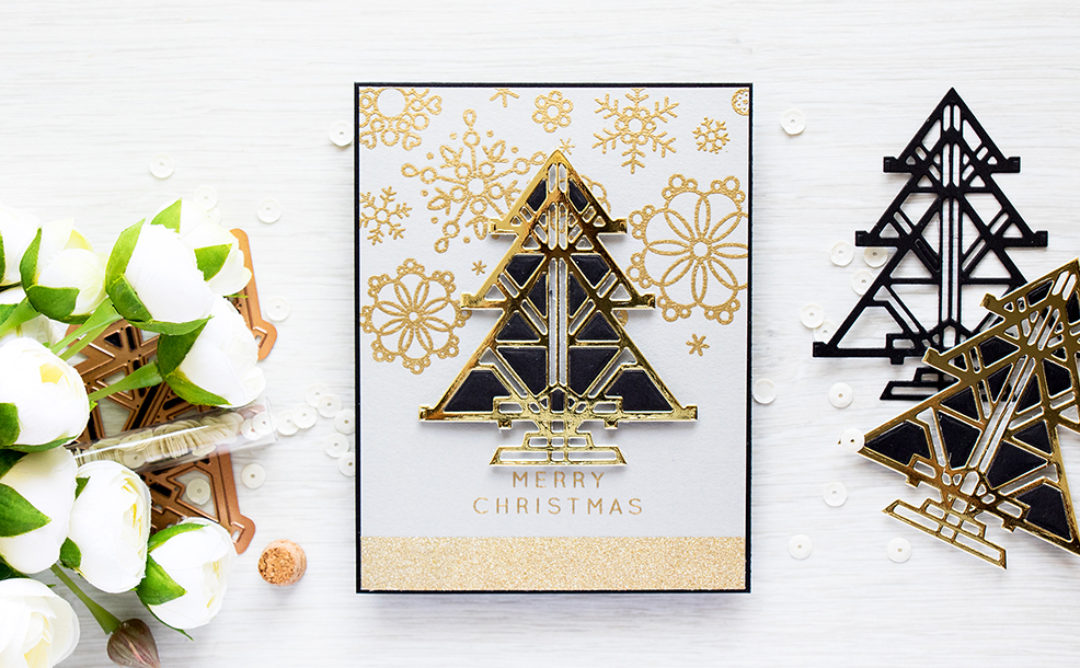 Art Deco Christmas – Easy Inlaid Die Cutting Video Tutorial