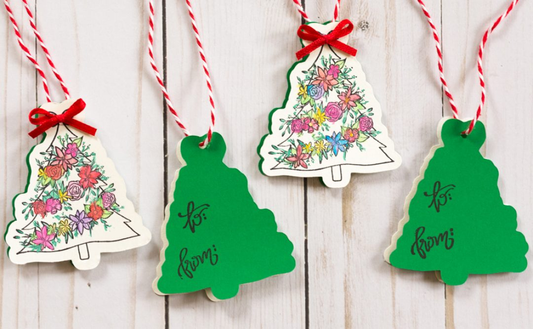 Creating Open Me Holiday Gift Tags
