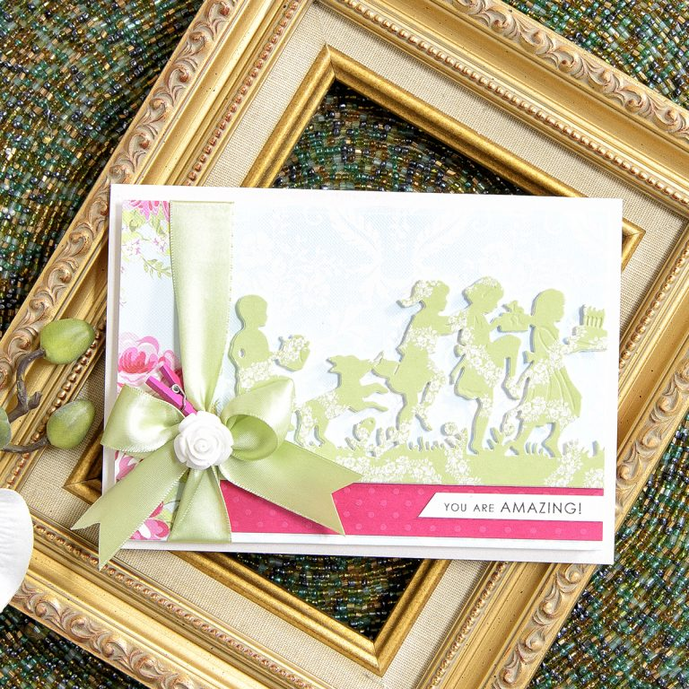 Quick Technique | You Are Amazing Card with S4-752 Party Kids Die. Project by Yana Smakula for Spellbinders