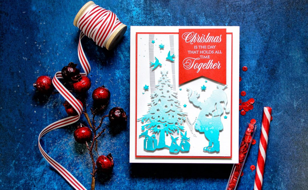 Quick Technique   Christmas Is The Day Card with Deck The Halls Die