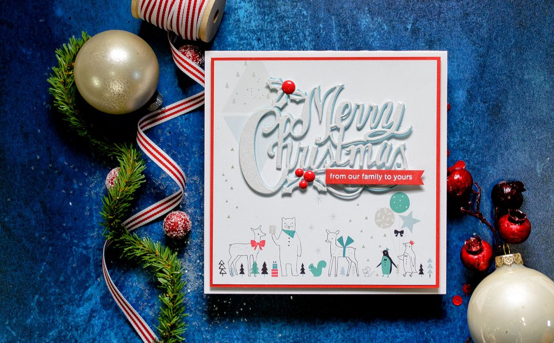Quick Technique | Holiday Card with Merry Christmas Die