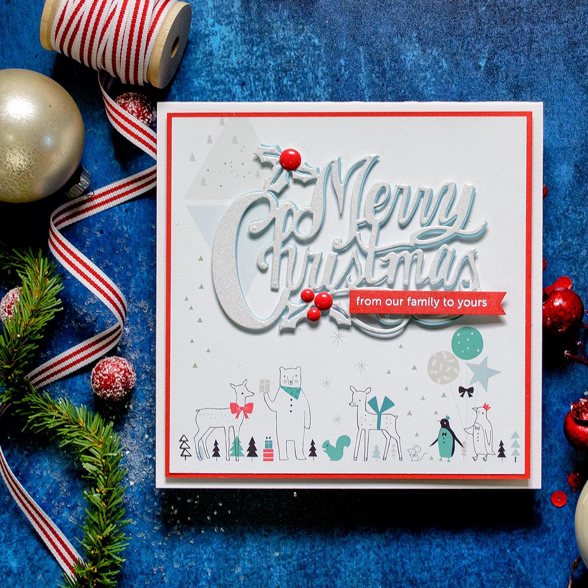 Spellbinders Designer Series Die ~ MERRY CHRISTMAS ~ S4-774 ~ Sharyn Sowell