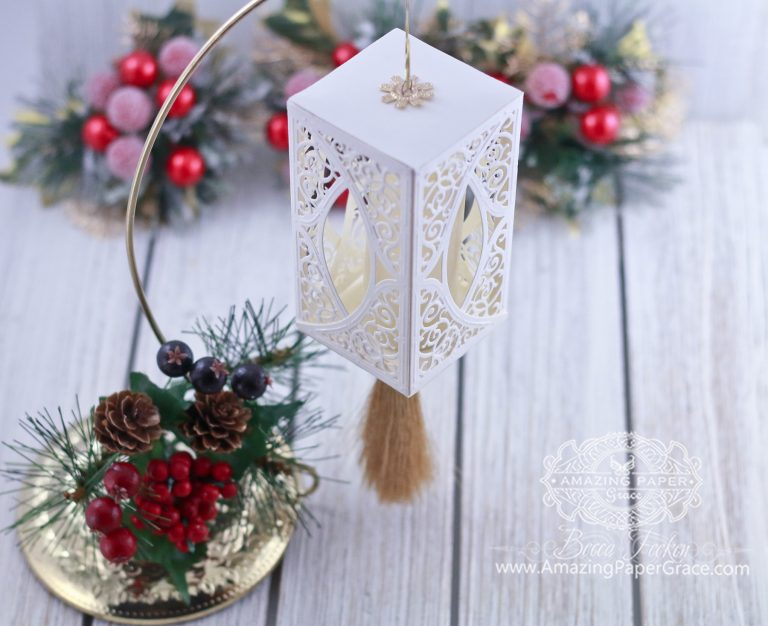 Die Cut Ornament Series: Swirl Bliss by Becca Feeken using Spellbinders S4-505 Swirl Bliss Pocket dies #spellbinders #diecutting #christmasornament #papercrafting