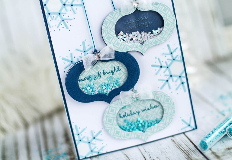Spellbinders December 2017 Card Kit of the Month is Here | More Inspiration by Elena Salo #spellbinders #cardkit #cardmaking