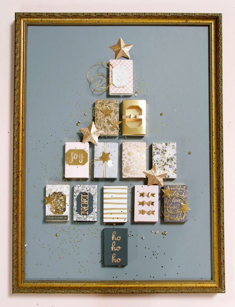 Spellbinders - A Holiday Advent Calendar using the Match Box Die by Debi Adams #spellbinders #adventcalendar #diecutting