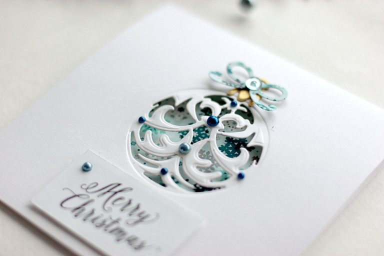 Holiday Ornaments Cards with Elena Olinevich for Spellbinders using S4-760 Gilded Ornaments Dies #spellbinders #cardmaking