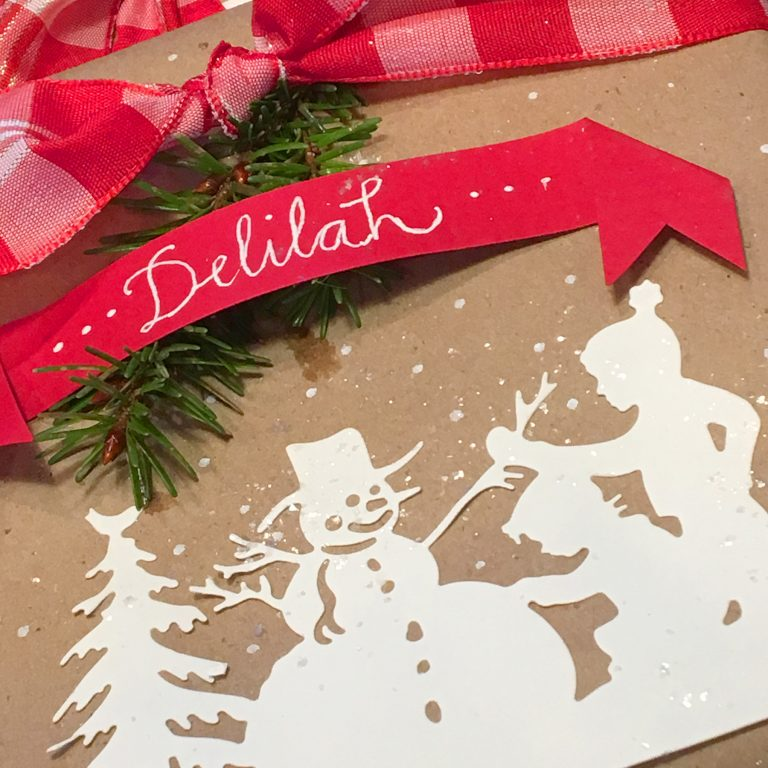 Let's Wrap Our Gifts… Quick & Easy with Sharyn Sowell for Spellbinders. Using: S4-821 Building a Snowman, S4-824 Sledding, S4-826 Snow Ball, S5-355 Tree Picking dies #spellbinders #giftwarp