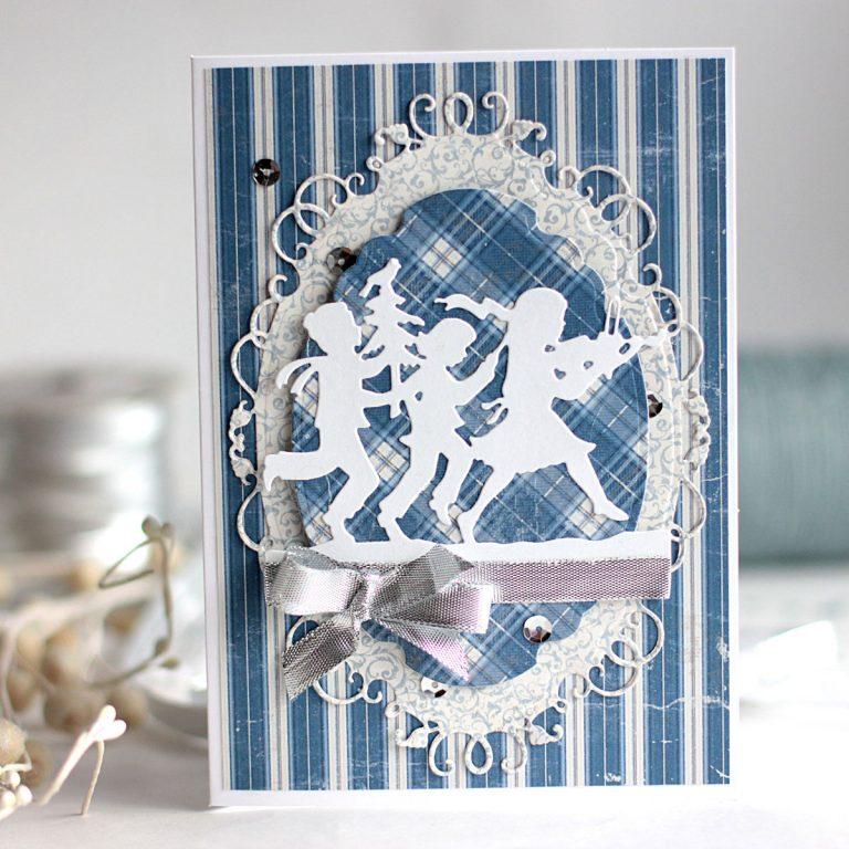 Fa La La Cards with Elena Olinevich for Spellbinders using S4-601 Label 33 S4-828, Fa La La (designed by Sharyn Sowell), S5-298 Label 33 Decorative Elements dies #spellbinders #cardmaking #christmas