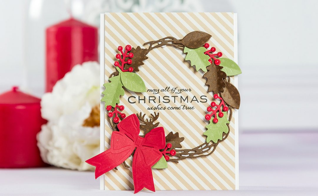 Cardmaking Inspiration | Christmas Wishes Card with Lene Lok Four Seasons Collection