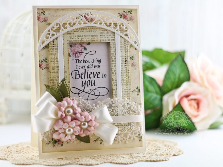 Spring Flowers April Showers by Becca Feeken using S4-792 Cinch and Go Flowers 2, S5-330 Lunette Arched Borders, S5-308 Hemstitch Rectangles, S5-131 Matting Basics A #flowers #handmade flowers #diecutting