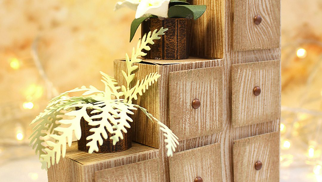 Video Friday   How to Make Paper Chest of Drawers / Flower Stand with Olga Direktorenko for Spellbinders