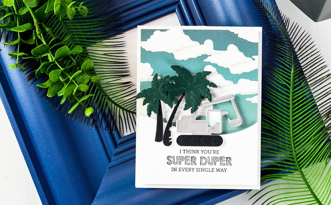 Cardmaking Inspiration | You Are Super Duper Card Featuring Tractors Dies
