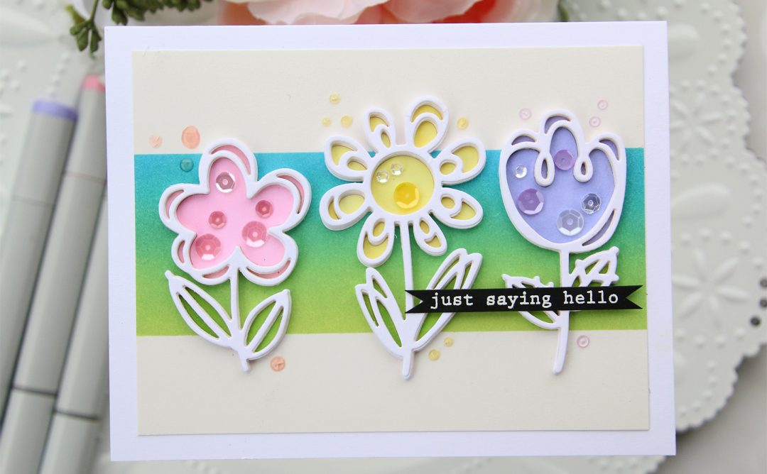 Die D-Lites Inspiration | Floral Card with Brenda