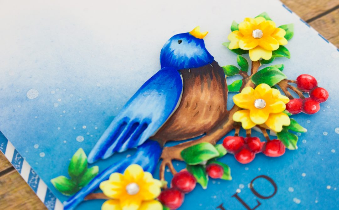 Flower Garden Inspiration | Bird On Cherry Branch + Copic Coloring with Cynde. Video
