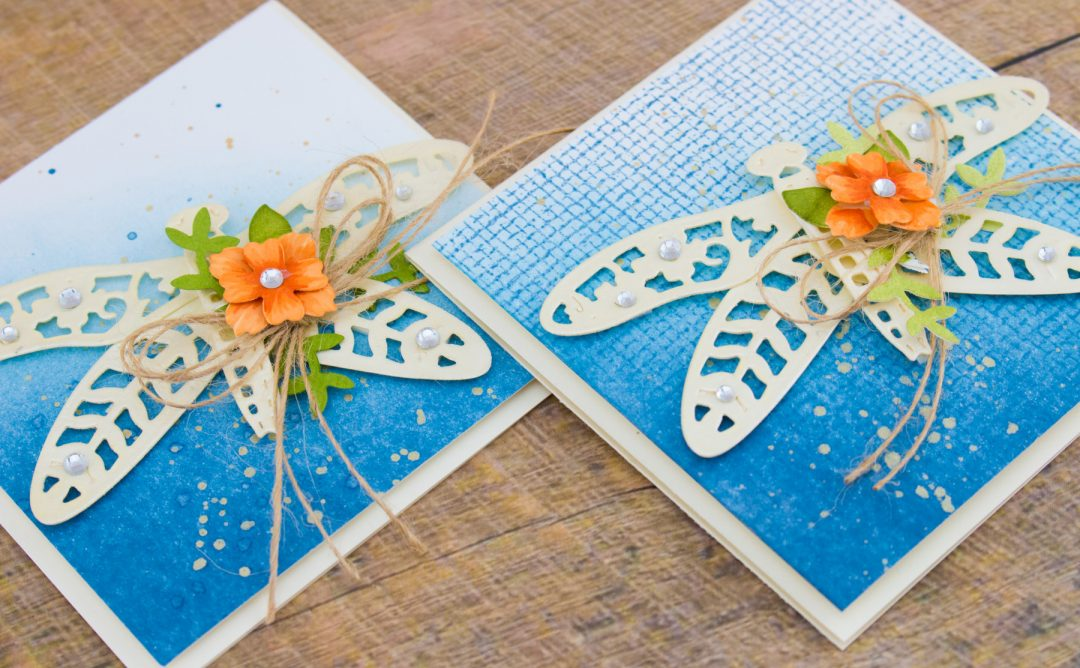 Flower Garden Inspiration | Botanical Dragonfly Card with Cynde. Video
