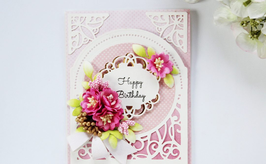 Elegant 3D Vignettes Inspiration | Happy Birthday Card with Hussena