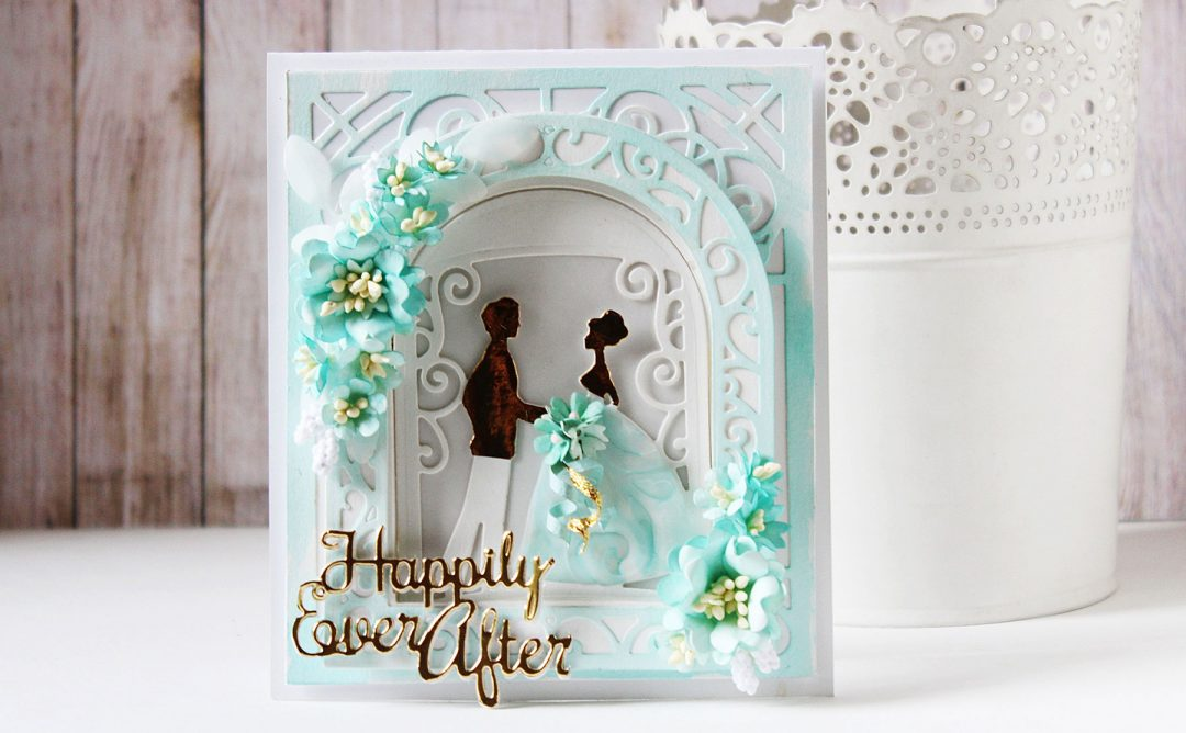 Elegant 3D Vignettes Inspiration | Gift Bag & Happily Ever After Card with Hussena
