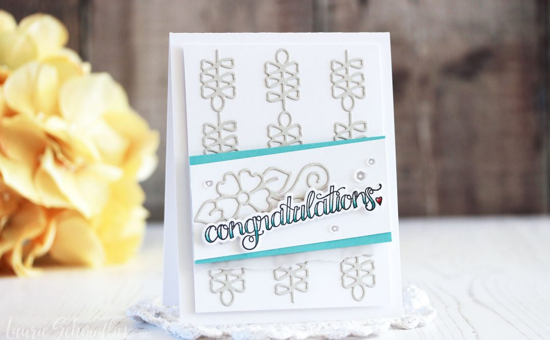 Die D-Lites Inspiration | Dainty Florals Congratulations Cards with Laurie