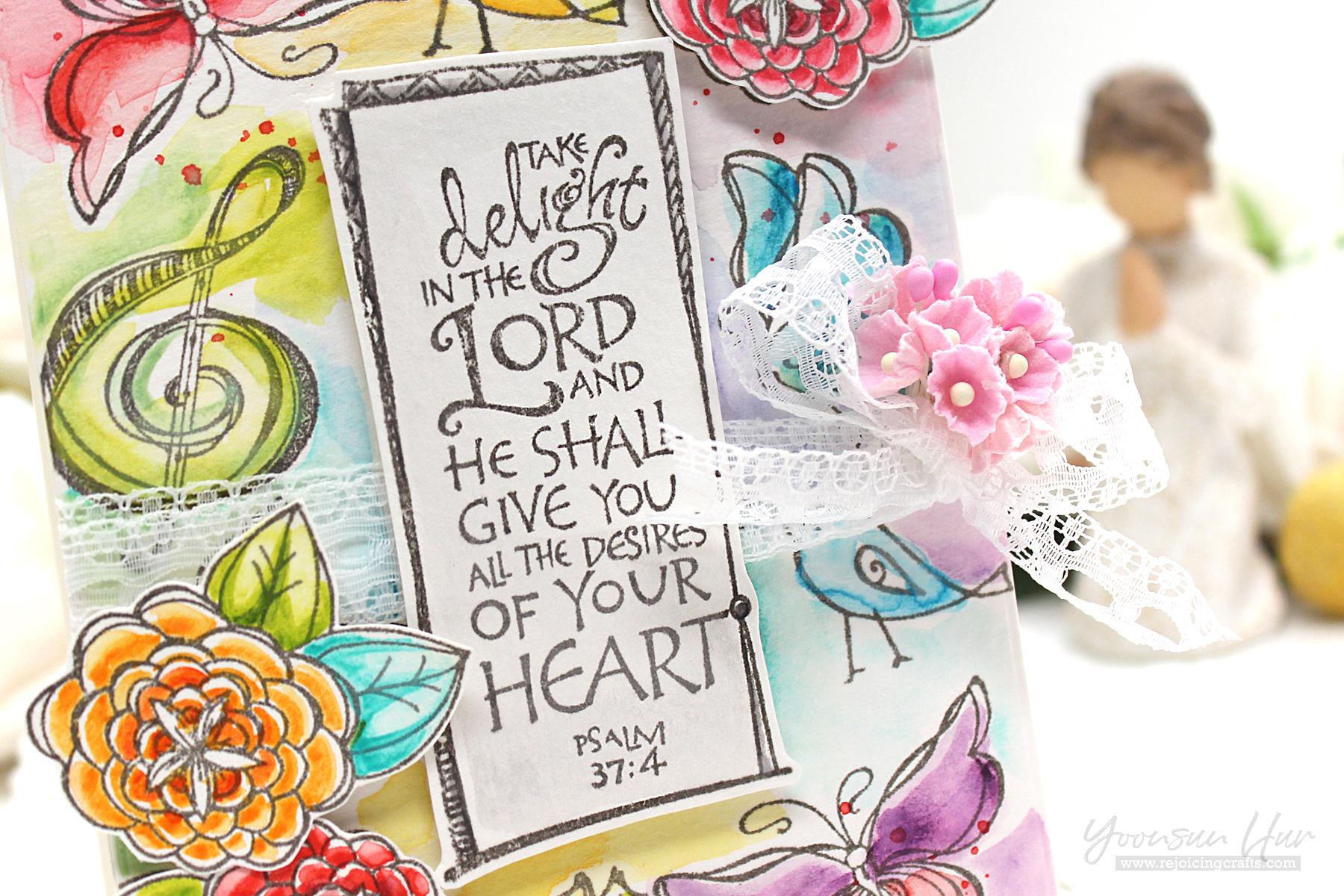 Spellbinders SBS-143 Sing Unto God Bible Journaling Stamp Set
