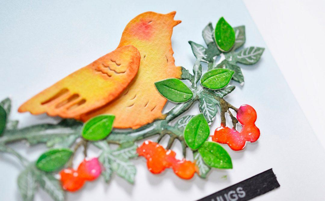 Flower Garden Inspiration   Bird Of Spring Card with Mayline