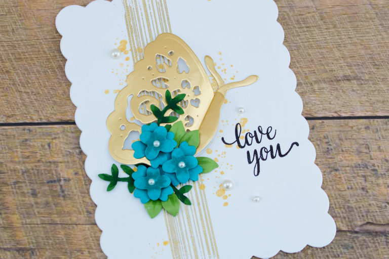 Flower Garden Collection by Sharyn Sowell - Inspiration | Botanical Butterfly Card with Cynde. Video tutorial. Project created using S2-285 Bird on Cherry Branch, S2-286 Botanical Butterfly, S4-847 Floral Panel Card. #diecutting #spellbinders #cardmaking #neverstopmaking