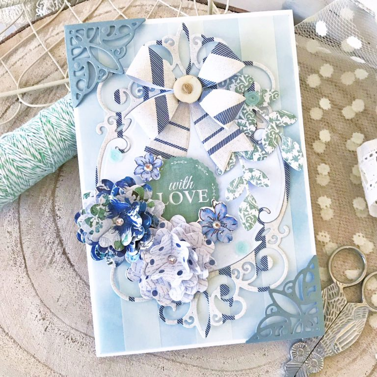 Elegant 3D Vignettes Collection by Becca Feeken Inspiration | Tiara Rondelle Card with Melissa Phillips using S3-314 Petite Double Bow and Flowers S4-867 Cinch and Go Flowers III S5-342 Tiara Rondelle dies #diecutting #handmadecard #spellbinders #neverstopmaking