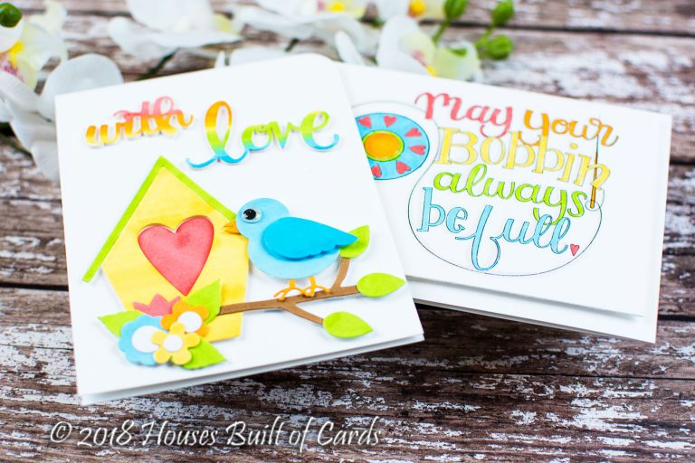 Sew Sweet Collection by Tammy Tutterow - Inspiration | Colorful Cards with Heather for Spellbinders using S6-142 Sweet Tweets, S4-913 Sew Sweet Sentiments, SBS-160 Bobbin Wishes #spellbinders #diecutting #stamping #handmadecard