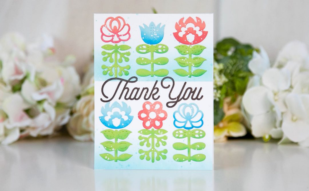 Folk Art Inspiration | Nordic Blooms Card with Keeway