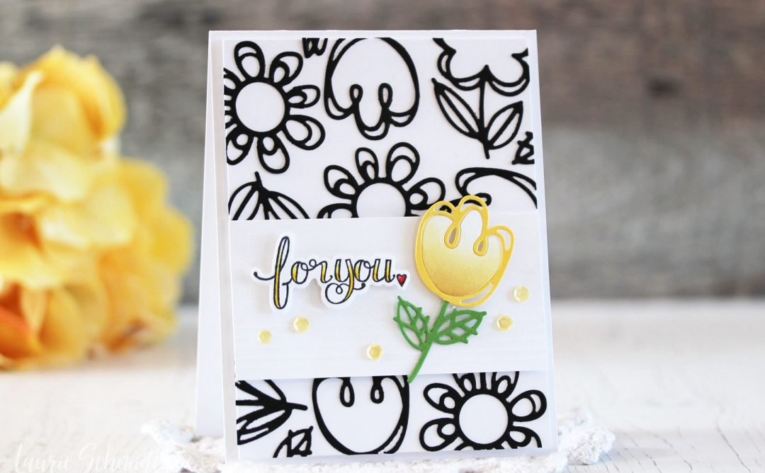 Die D-Lites Inspiration | For You Floral Card with Laurie