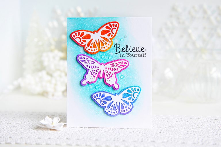 Good Vibes Only Collection by Stephanie Low - Inspiration | Butterfly & Floral Cards with Kay for Spellbinders using S3-237 Wandering Butterflies dies. #spellbinders #neverstopmaking #diecutting #handmadecard