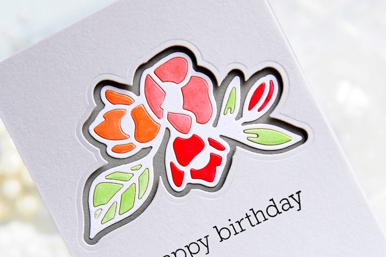 Good Vibes Only by Stephanie Low - Collection Inspiration | Clean & Simple Cards with Kay for Spellbinders using: S2-294 Petal'd Poetry #spellbinders #cleanandsimple #cardmaking #diecutting #handmadecard #neverstopmaking