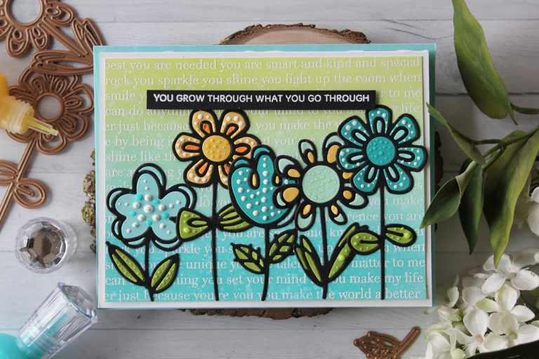 Spellbinders Video Friday | Inlay Sketched Blooms with Nichol using: S3-322 Sketched Blooms, S3-323 Sketched Blooms 2 dies #diecutting #handmadecard #spellbinders #neverstopmaking