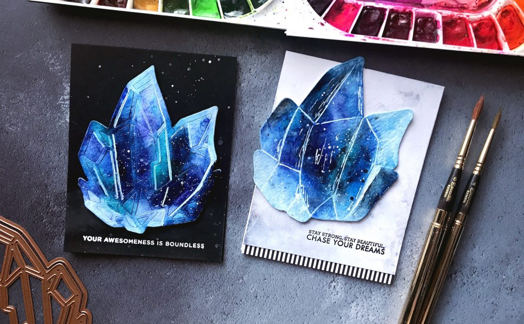 Good Vibes Only Inspiration | Watercolored Crystals with Rubeena