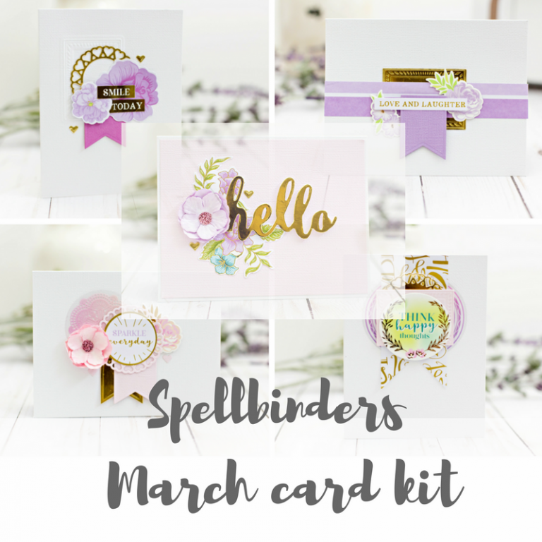 Spellbinders March 2018 Card Kit