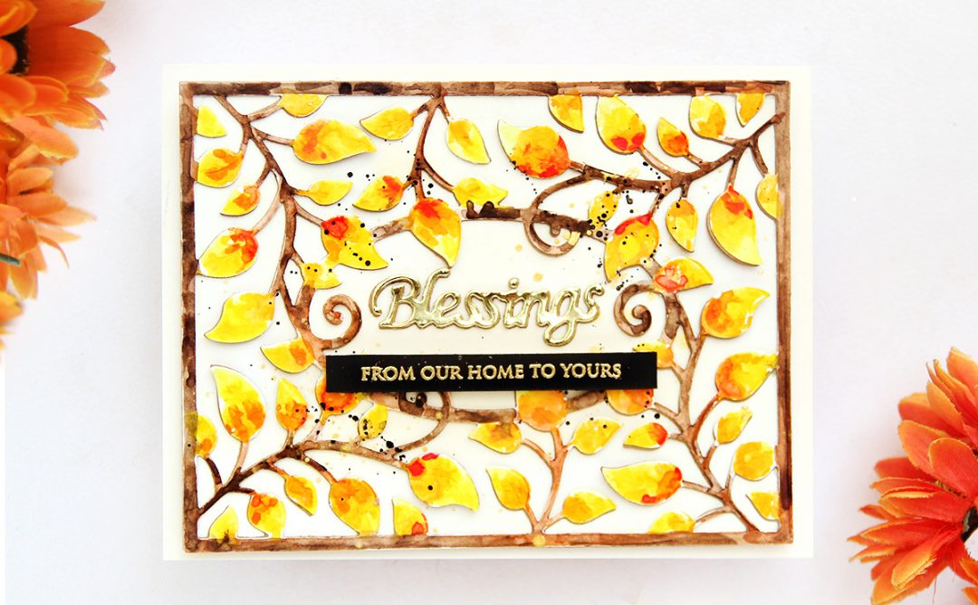 Thoughtful Expressions Inspiration   Watercolour Blessings Card with Erum