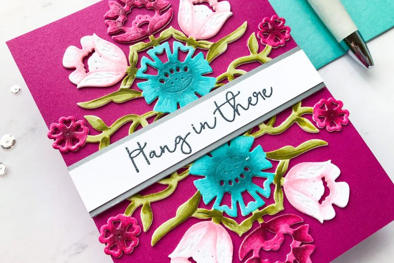 Folk Art Collection by Lene Lok - Inspiration | Floral Bouquet by Emily Midgett for Spellbinders using S4-897 Floral Bouquet dies #spellbinders #neverstopmaking #diecutting #handmadecard #diecut #copiccoloring