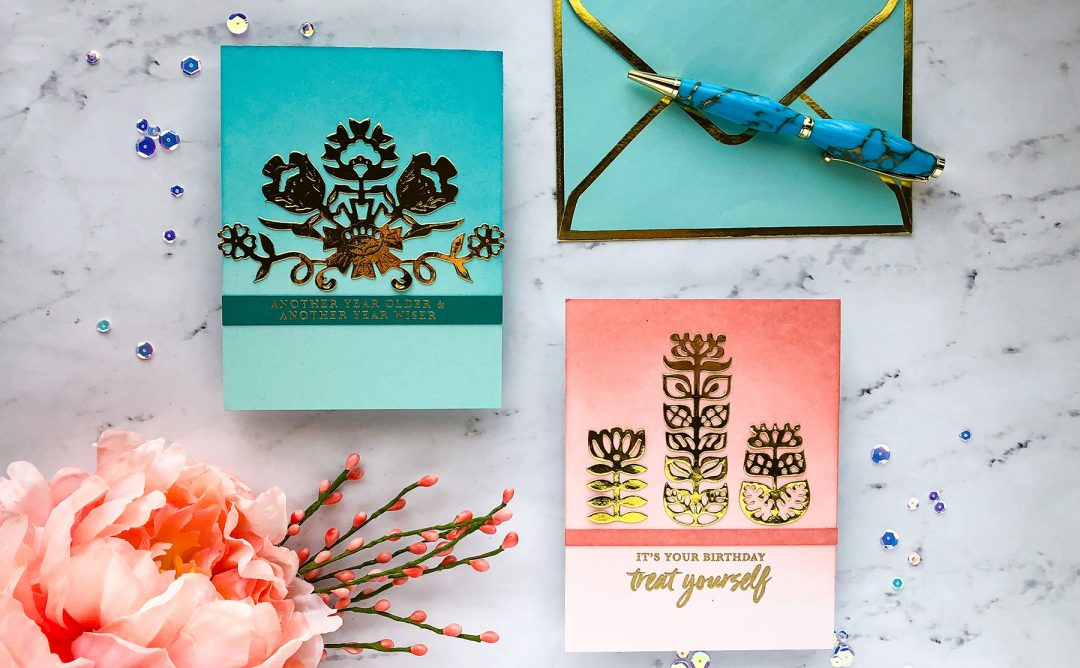 Folk Art Inspiration | Simple Gold Foil Cards with Emily