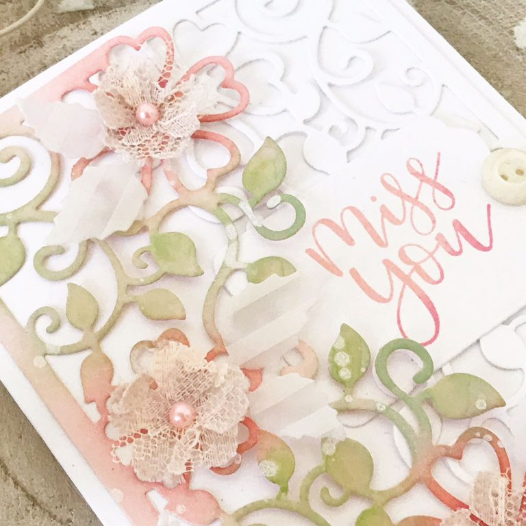 Blooming Garden Collection by Marisa Job Inspiration | Layered Cards by Melissa Phillips for Spellbinders using S3-335 Rose Buds, S4-914 Side Floral Panel, S4-916 Blooming Rose dies #spellbinders #neverstopmaking #diecutting #handmadecard
