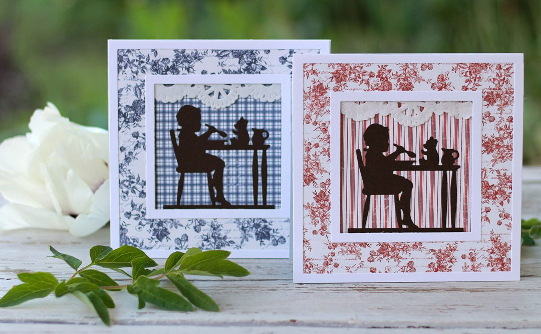 Little Loves Inspiration | Silhouette Cards with Susie - Spellbinders