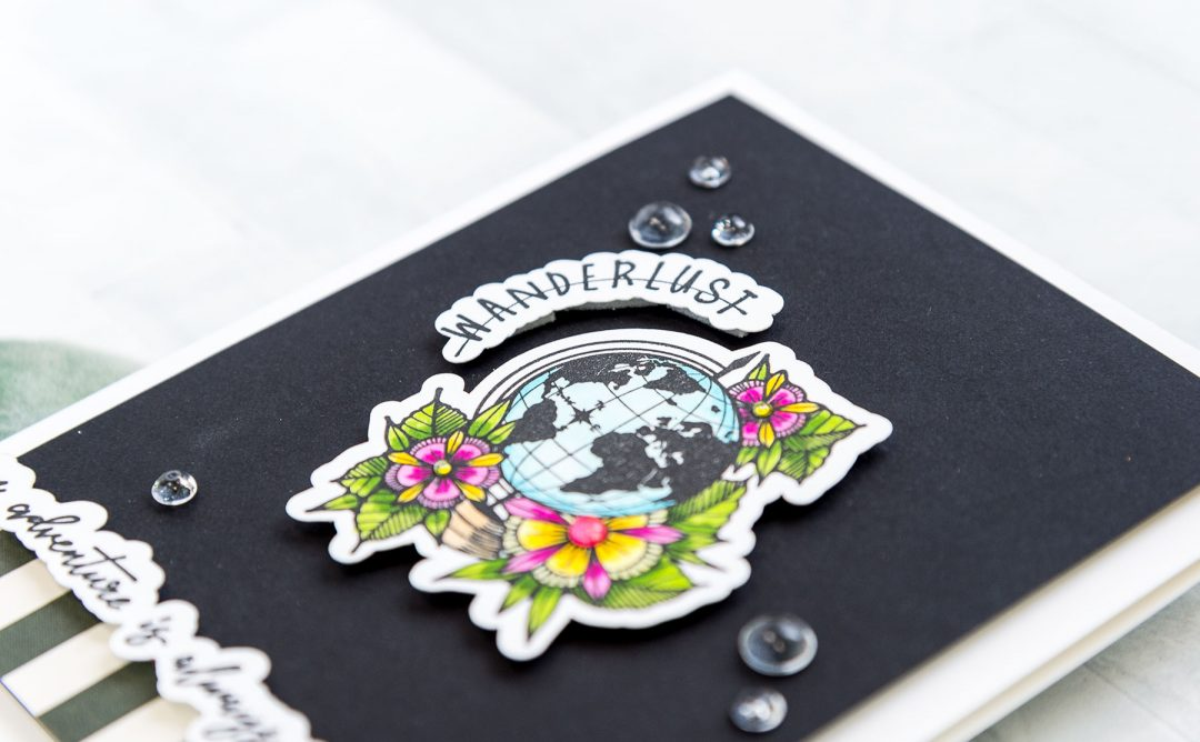 Inked Messages Inspiration | An Adventure Card Featuring Wanderlust Stamp and Die Set