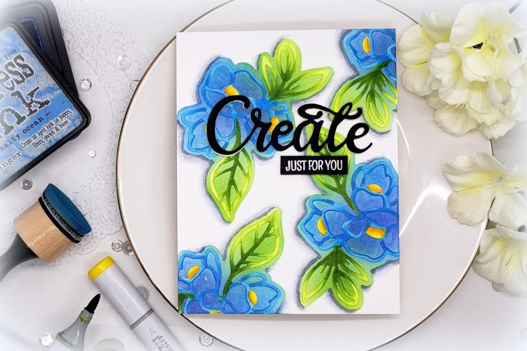 Video Friday | Create a Stencil using Die Cuts with Kelly Latevola for Spellbinders. Using S3-324 Lovely Lilac, S4-888 Words dies. #diecutting #handmadecard #spellbinders #neverstopmaking