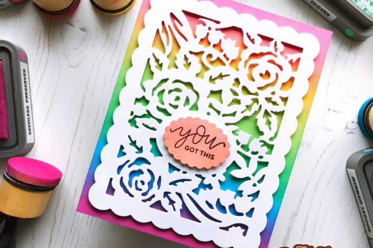 Flower Garden Collection by Sharyn Sowell - Inspiration   Flower Garden Card by Ruby for Spellbinders using S4-487 Card Creator Floral Panel Card #spellbinders #diecutting #handmadecard #neverstopmaking #sharynsowell #flowergarden
