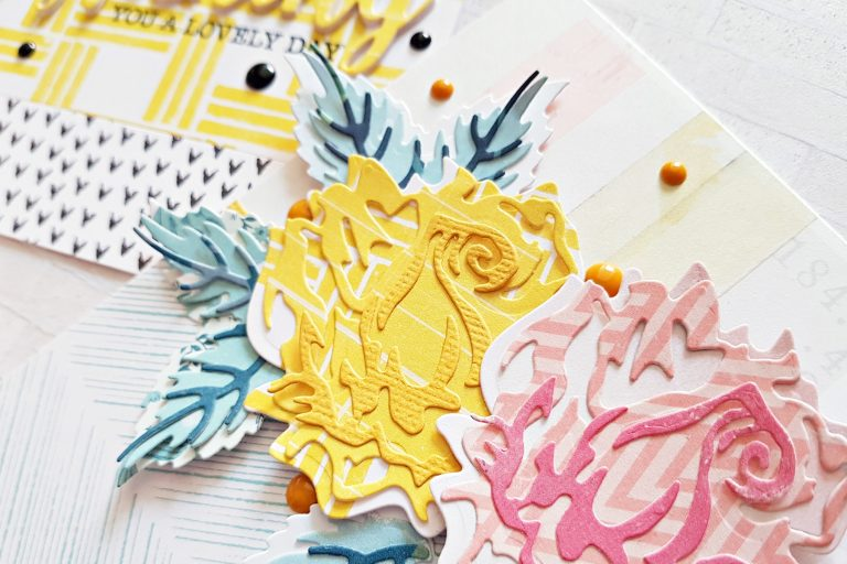 Exclusive Indie Collection Inspiration   Layered Rose Cards by Zsoka for Spellbinders using SDS-157 Wishing Expressions S4-921 Layered Rose S5-361 Layered Foliage. #spellbinders #neverstopmaking #diecutting #handmadecard