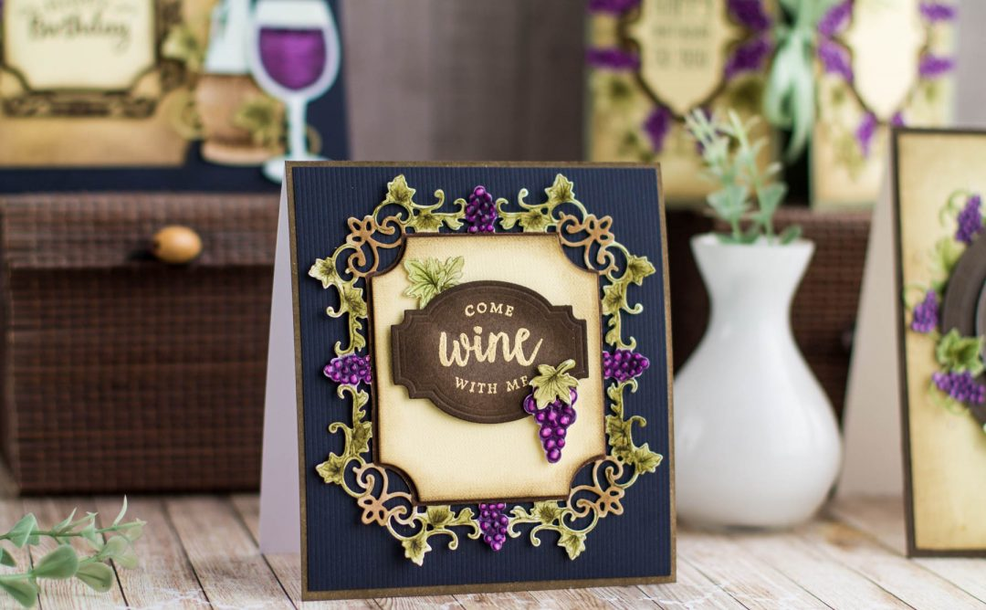 Cardmaking Inspiration | Come Wine With Me with Elena