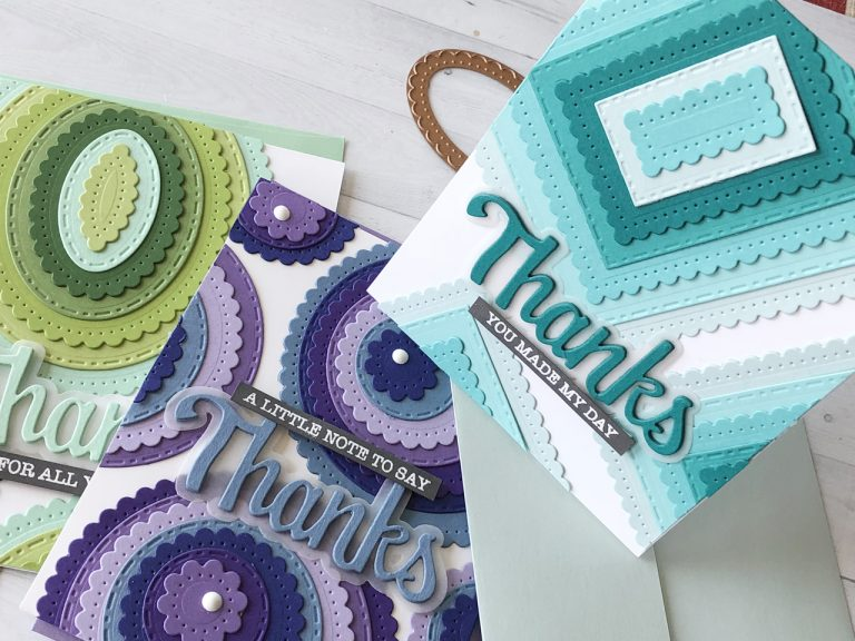 Video Friday | Classics Layered Backgrounds Cards by Nichol Spohr for Spellbinders using: S4-907 Fancy Edged Ovals, S4-903 Fancy Edged Circles, S4-905 Fancy Edged Rectangles, SDS-151 Thanks Expressions #spellbinders #diecutting #handmadecard #neverstopmaking #diecut Video Friday | Classics Layered Backgrounds Cards by Nichol Spohr for Spellbinders using: S4-907 Fancy Edged Ovals, S4-903 Fancy Edged Circles, S4-905 Fancy Edged Rectangles, SDS-151 Thanks Expressions #spellbinders #diecutting #handmadecard #neverstopmaking #diecut