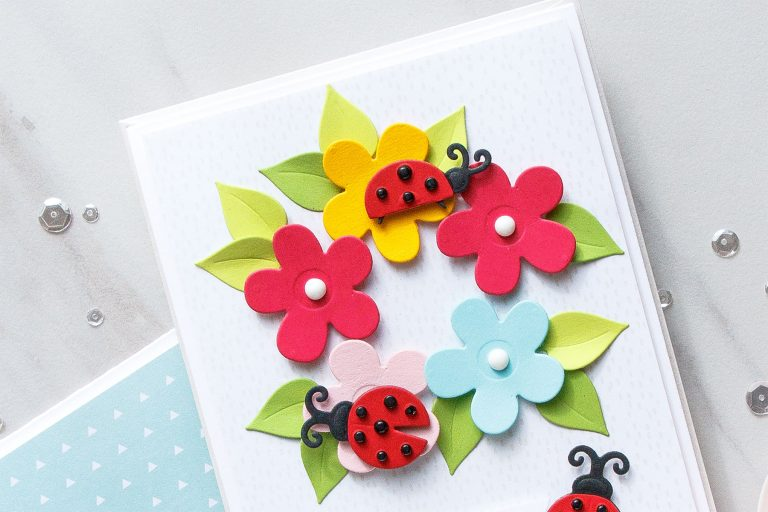 Cardmaking Inspiration | You Are My Happy Card Featuring Lady Bug Garden by Yana Smakula for Spellbinders. S3-316 Lady Bug Garden #spellbinders #diecutting #handmadecard #neverstopmaking