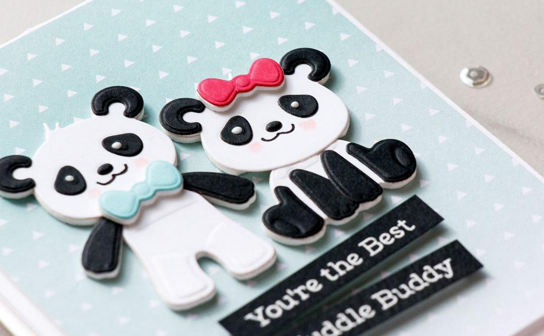 Cardmaking Inspiration | You're The Best Cuddle Buddy Card Featuring Build A Panda with Yana