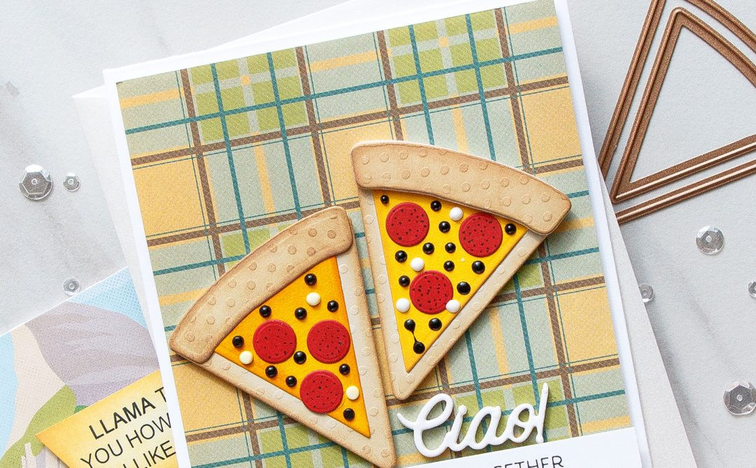 Cardmaking Inspiration | Let's Get Together Card Featuring Party Food with Yana