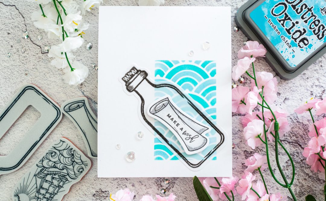 Inked Messages Inspiration | Message in a Bottle Card with Gemma