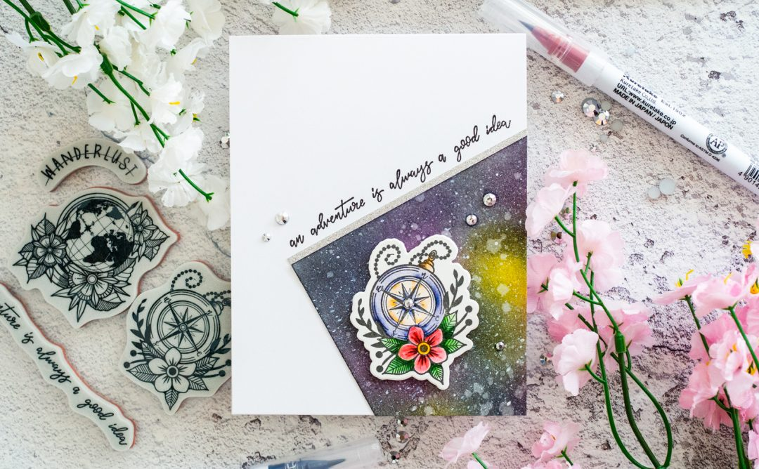 Inked Messages Inspiration | Wanderlust Galaxy Card with Gemma